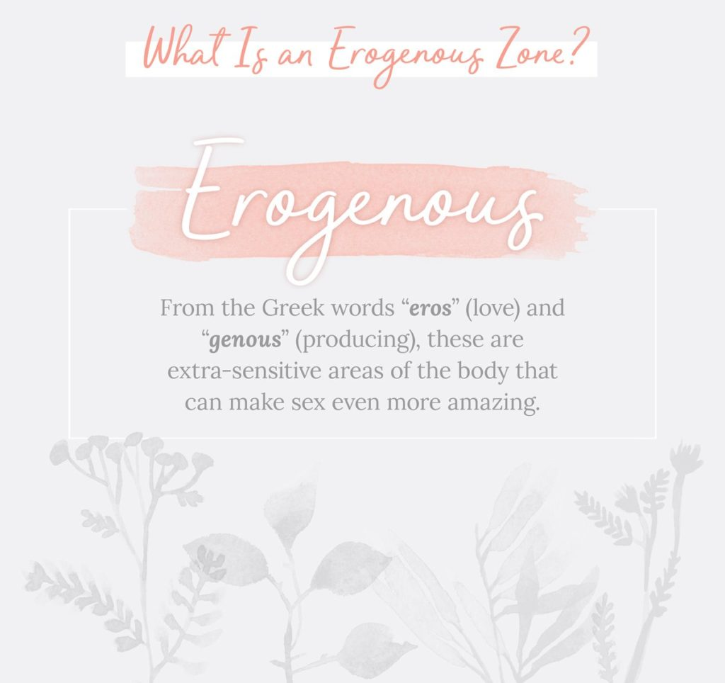 erogenous zone definition on illustrated flowers