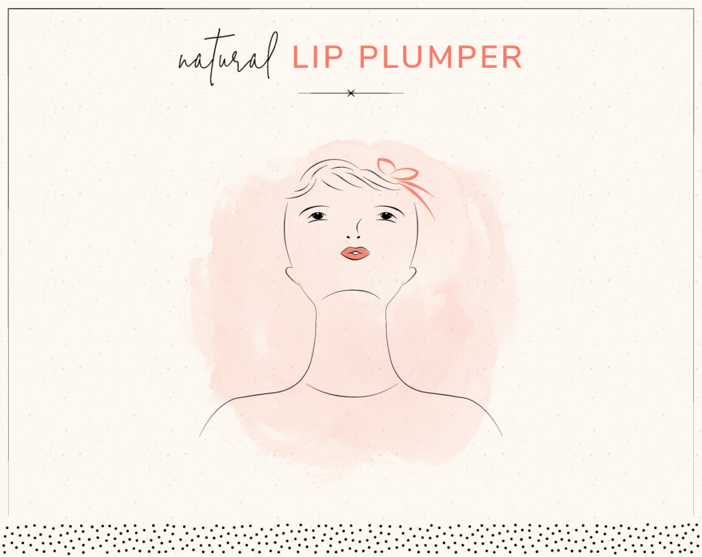 drawing of woman doing lip plumping face yoga