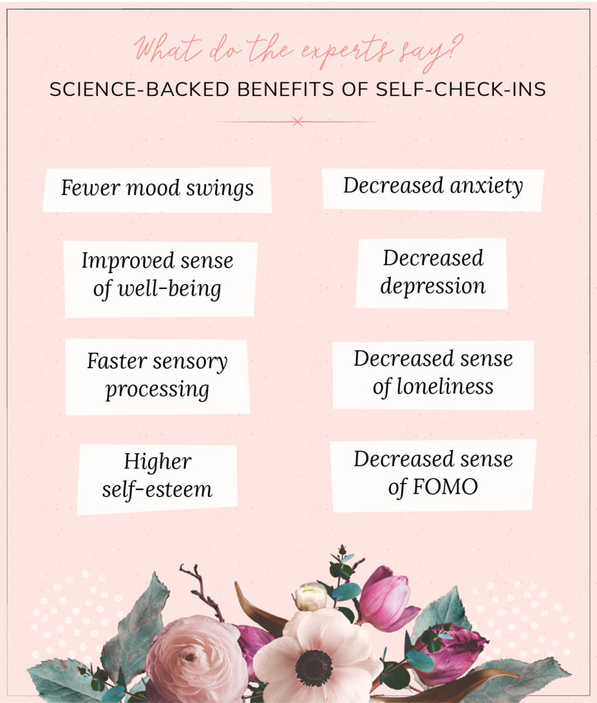 list of scientific benefits of self check ins