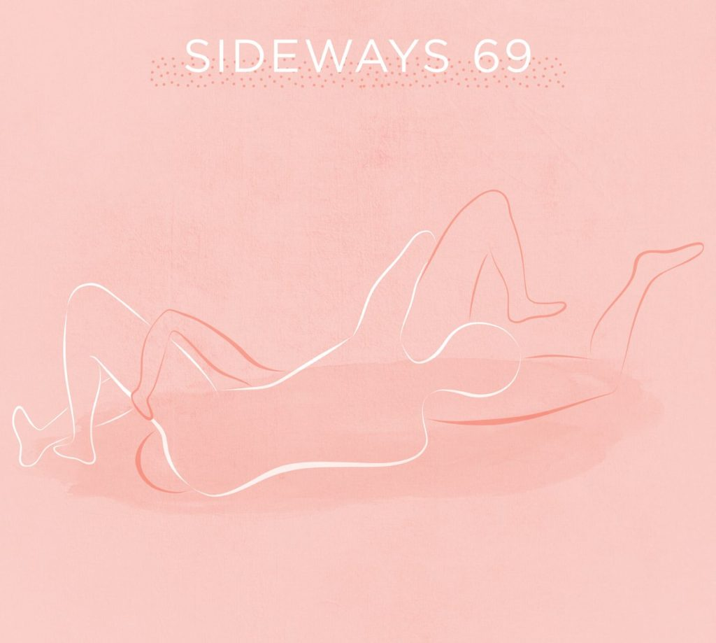 illustration of sideways 69 disabled sex position